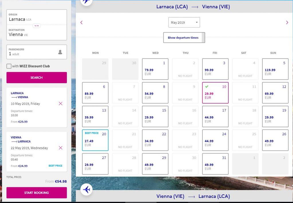 Larnaca To Los Angeles Via Vienna For 396 Cyflyer